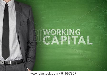 Working capital on blackboard