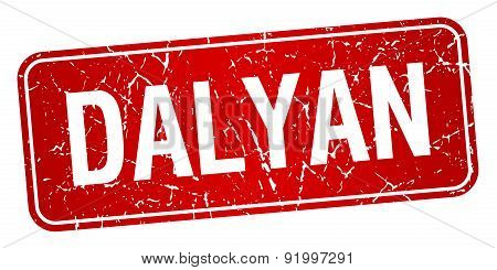 Dalyan Red Stamp Isolated On White Background