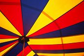 pic of circus tent  - circus tent pattern on a cloth texture - JPG