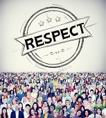 image of integrity  - Respect Honesty Honorable Regard Integrity Concept - JPG