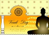 image of wesak day  - Abstract of Vesak Day The Meditation Day of The World - JPG