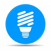 pic of fluorescence  - Vector energy saving fluorescent light bulb icon - JPG