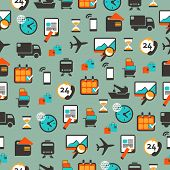 pic of logistics  - Seamless pattern with logistics equipment and icons - JPG