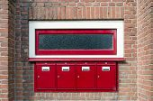 foto of mailbox  - Mailbox and window outside apartment building in Amsterdam - JPG