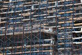 pic of workplace safety  - Construction site with safety nettting in Brooklyn New York - JPG