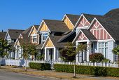 picture of row houses  - A row of a new houses in Richmond British Columbia - JPG