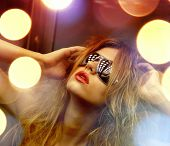 stock photo of elevator  - fashion and people concept  - JPG