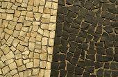 stock photo of carnival rio  - Typical sidewalk of Rio de Janeiro designed by Oscar Niemeyer - JPG