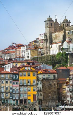 Porto, Portugal old town on the Douro River.