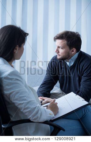 Man At Psychotherapist's