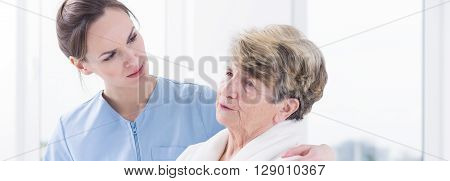 Caring Doctor And Woried Patient