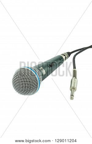 microphone and a jack on white background