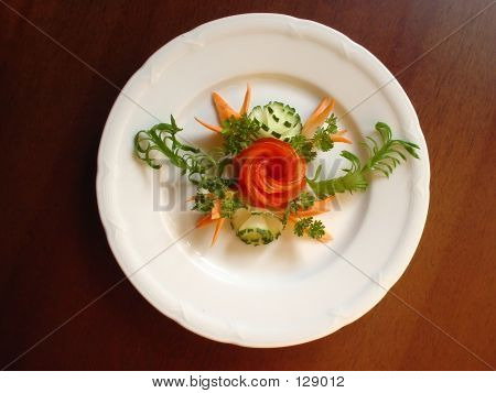 Food Decoration. Vegetable Flowers