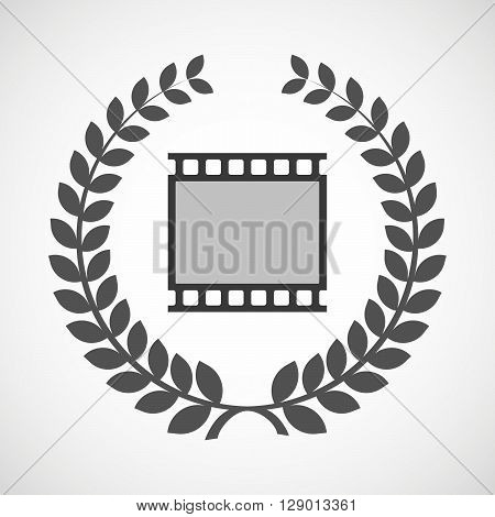 Isolated Laurel Wreath Icon With   A Photographic 35Mm Film Strip