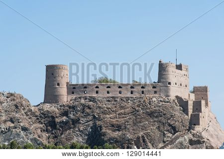 The medieval Fort Al-Jalaili in Muscat The Sultanate of Oman.