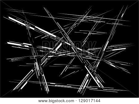 Abstract composition of lines of different thickness