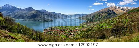 Lago di Como (Lake Como) high definition panorama