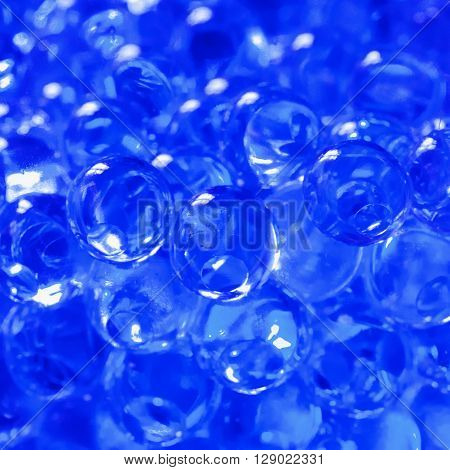 Blue bubbles background containing water for plants
