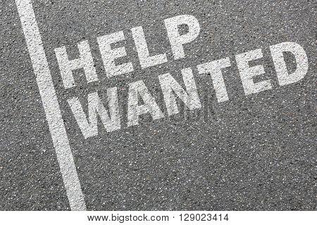 Help Wanted Jobs, Job Advertisement Working Recruitment Employees Business Concept