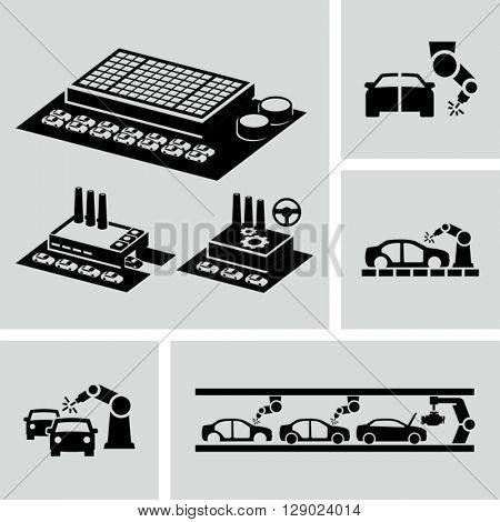 Car factory Icons
