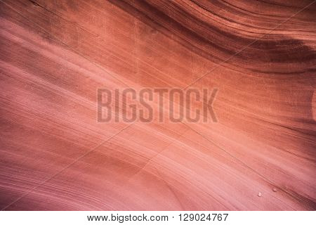 Bend In Sandstone Wall