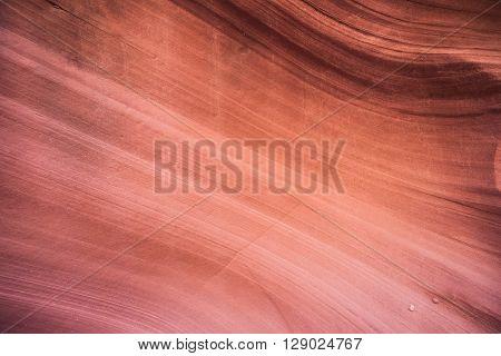 Bend In Sandstone Wall