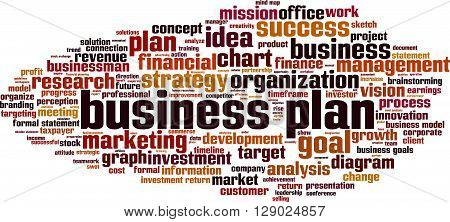 Business plan word cloud concept. Vector illustration