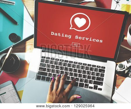 Dating Services Online Dating Application Concept