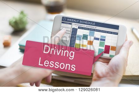 Driving Lessons Test Examination License Teaching Concept