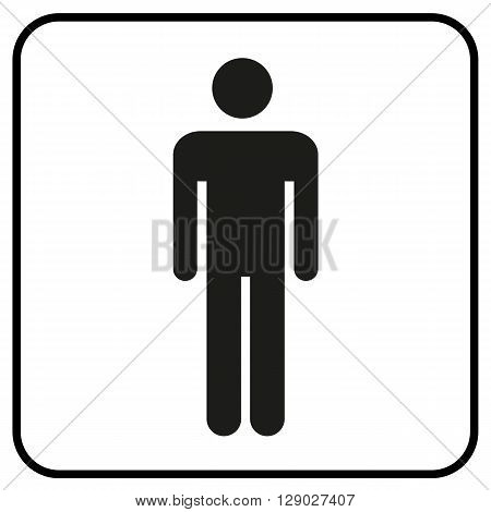 a pictogram of a man WC Toilet