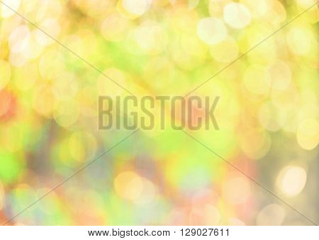 sweet abstract bokeh background on yellow filter