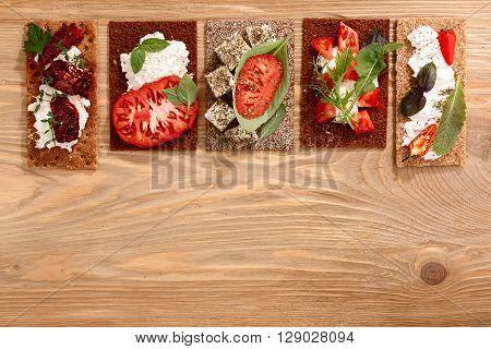 Crispbread Open-faced Sandwiches