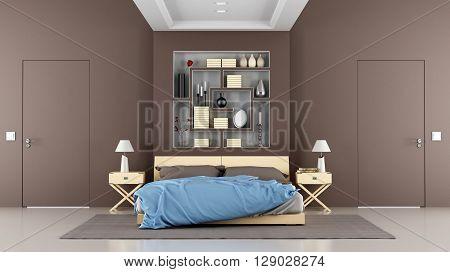 Brown Contemporary Bedroom
