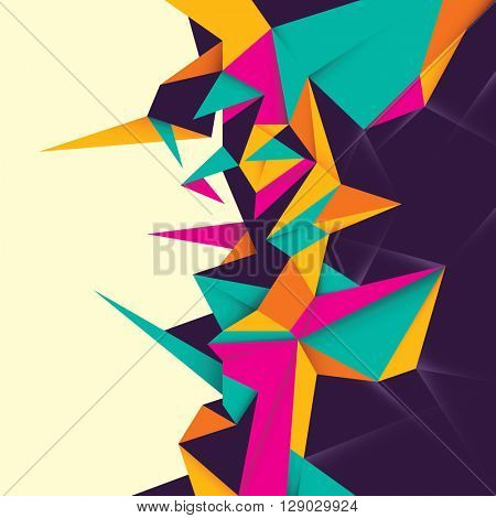 Angular abstraction in color. Vector illustration.