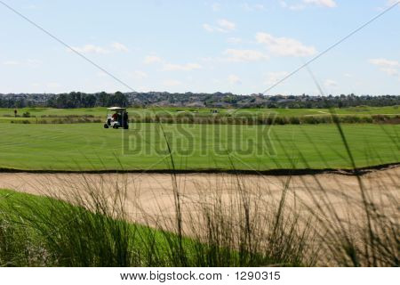 Golf Cart On Course
