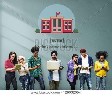 School Academy Campus College Study Education Concept