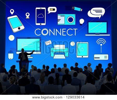 Connect Connection Devices Technology Communication Concept