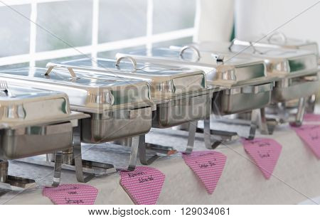 The catering food for a birthday party