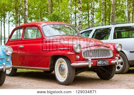 Red Skoda Felicia Coupe, Retro-club Of Czech Automaker