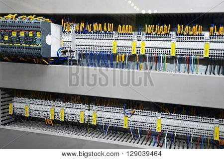 view of New control panel with electrical equipment