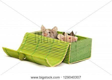 Three Decorative Mice