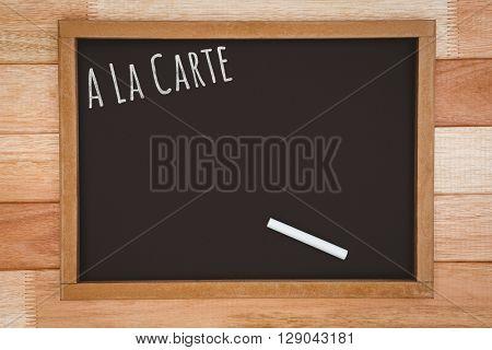 A la carte message against slate