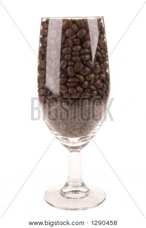 Coffee Beans In A Wine Glass