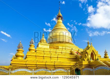 Myanmar Mandalay the Shwenandaw Kyaung golden pagoda sanctuary.