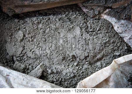 Cement Powder In Bag Texture