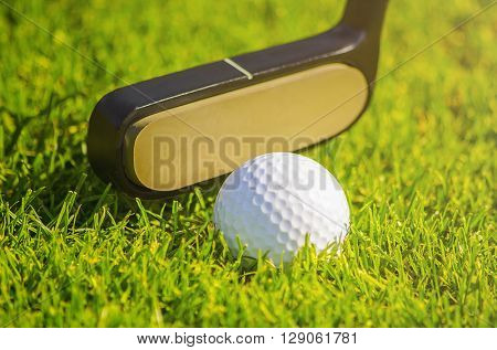 golf ball on course about to be shot