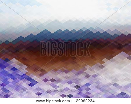 geometry landscape abstraction, abstract triangle and rectangles in beautiful mountain view, geometry shapes art design mountain landscape view,