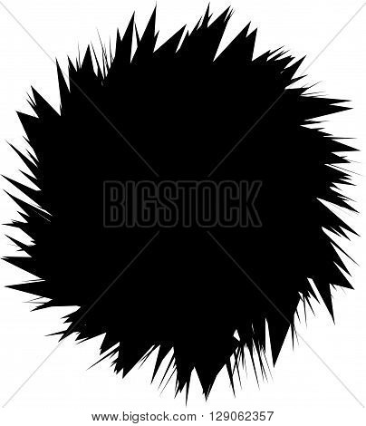 Abstract Spiky, Pointed Shape On White