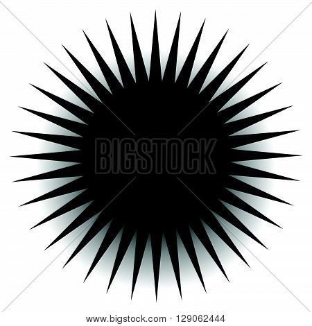 Spiky, Pointed Shape With Blank Space.