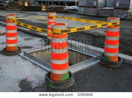 Danger Tape Barrier